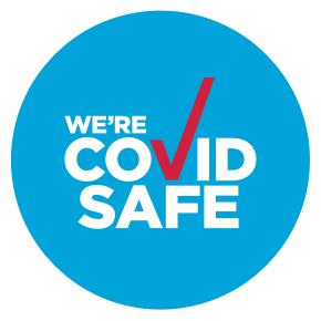 We're Covid Safe logo
